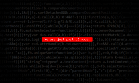 We Are Just Part Of Code by artrayd