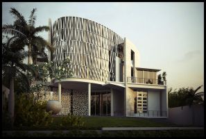 Waves House front 02 by Neellss