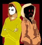 Masky and Hoodie by GhostFreak-Artz