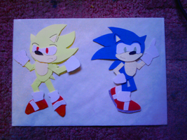 sonic and super sonic craft by xRubiMalonex