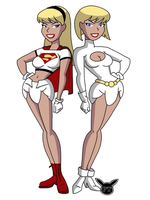 Diapered DC girls (power girl and super girl) by PikaTrooper123