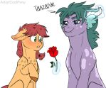 A flower for you my lady by ArtistCoolPony