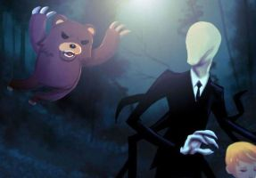 Pedo Bear V.S. Slender Man by KJo9900