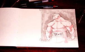 Drink and Draw Sagat by machinegunkicks