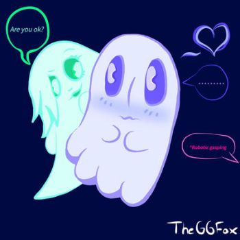 Blushing Blooky (Napstablook) by TheGGFox