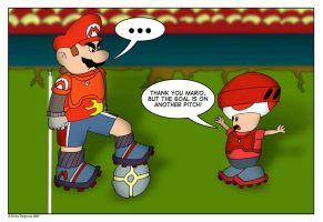 Mario Football: The Old Excuse by emilhedgehog