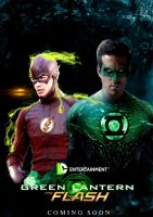 Green Lantern-Flash Movie Poster by PaulRom