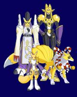 Digivolving: Renamon by racookie3