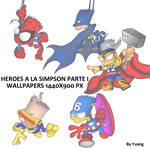 Heroes a la Simpson Wallpaper Pack by Yuang