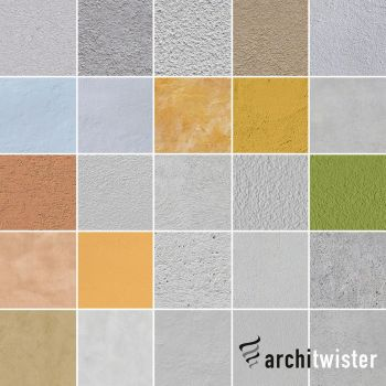 25 Seamless Plaster Textures by architwister