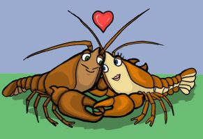 Crayfish Love by crawdadEmily