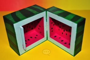 watermellon wooden box by cihutka123