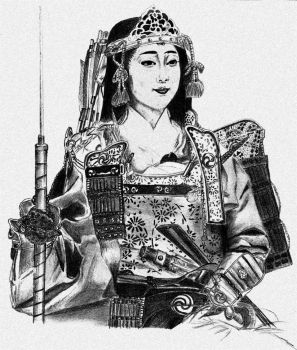 Tomoe Gozen by Justylka