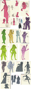 Gem Sketches and Ideas Dump by Overgrandmapowerlord
