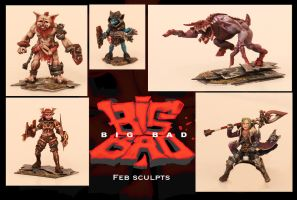 What I've sculpted in Feb by catwell