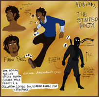 Adrian The Striped Ninja Reference by encune