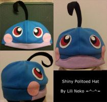 Shiny Politoed Fleece Hat by LiliNeko