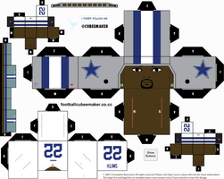 Emmitt Smith Cowboys Cubee by etchings13