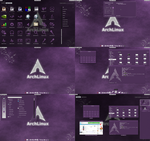 Purple-Craze Gnome Shell Theme by CraazyT