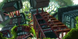 environment - Treehouse by ElBrazo