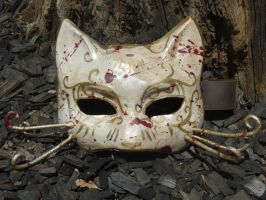 Bioshock Splicer Cat Mask by meanlilkitty