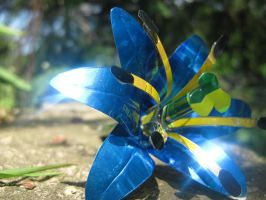 Soda Can Lily - Small Blue by Christine-Eige