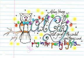 Owl City Doodle V2 by KyogrePrincess16