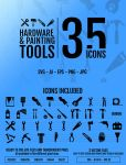 35 icons Hardware & Painting tools by doghead