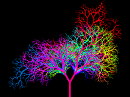 Leafless Colour Wheel Tree III by copperphoenix