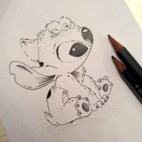 Stitch Sketch 9 - on SALE NOW via Etsy by Hummingbird26