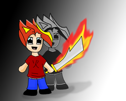 Chibi of Flaming Awesomeness by reaver570