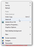 Right click select all option by AbhishekGhosh