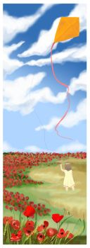 girl and kite by arwen1112