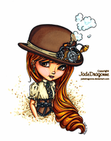 Steampunk hat - colored by JadeDragonne