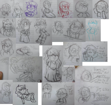 Holy Heck This Is A Massive Sketch Dump by 123abcdrawwithme