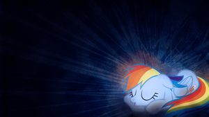 My Little Dashie is Snoozing on Your Desktop by SandwichDelta