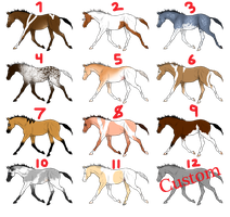 Free Adoptables - Horses 17 by carlmoon