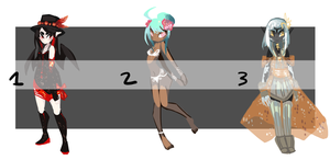 ADOPTABLES: Set 24 RE-OPEN - 1 LEFT! by arcevaus
