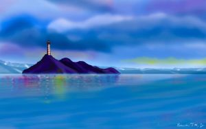 Crystal Clear Light House by stargateatl