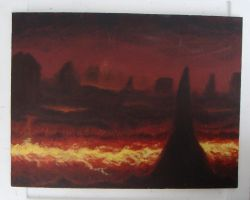 volcanic environment canvas by xensoldier