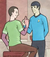Spock and Sheldon by spanielf
