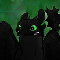 Toothless Night Fury by PengyPanda