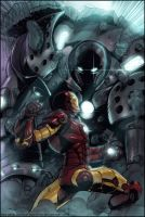 Iron Man vs Iron Monger by erickenji