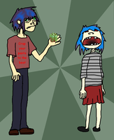 2D and Noodle's beautiful kids by I-am-THEdragon