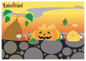 Loco Roco Halloween by SlavePrincess