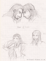 [Sketches] There and Back again by Princess--Kimono