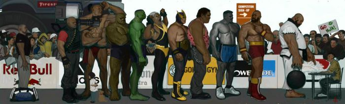 Strongman Competition finishing wip by FUNKYMONKEY1945