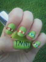 Ninja Turtle Nail Art by MissDaniLips