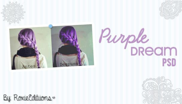 Purple Dream PSD by RoxieEditiions