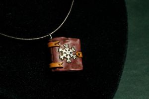 Winter Book Pendant by Nabila1790